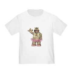 Heather Hippo Toddler T-Shirt