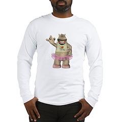 Heather Hippo Long Sleeve T-Shirt