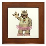 Heather Hippo Framed Tile