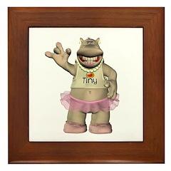 Heather Hippo Framed Tile