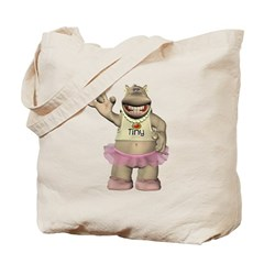 Heather Hippo Tote Bag