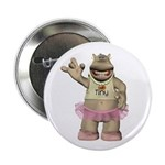 "Heather Hippo 2.25"" Button"