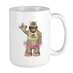 Heather Hippo Large Mug