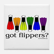 Got Flippers? Tile Coaster
