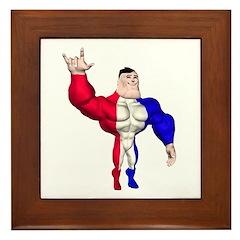 Alpha Man Framed Tile