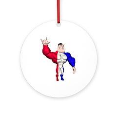 Alpha Man Ornament (Round)