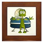 Al Alien Framed Tile