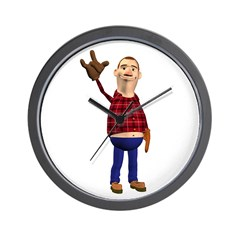 Barney Wall Clock