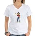 Dennis Women's V-Neck T-Shirt
