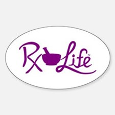 Purple Rx Life Sticker (Oval)