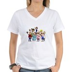 Family Portrait Women's V-Neck T-Shirt