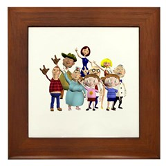 Family Portrait Framed Tile