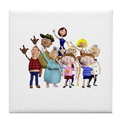 Family Portrait Tile Coaster