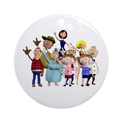 Family Portrait Ornament (Round)