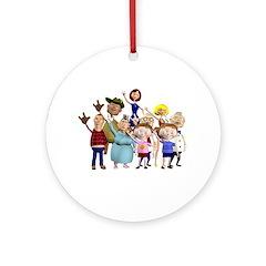 Family Portrait Ornament (Round)