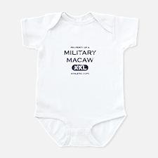 Property of Military Macaw Baby Bodysuit