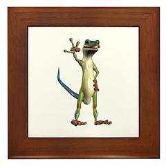 Mr. Gecko Framed Tile