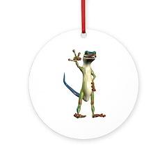 Mr. Gecko Ornament (Round)
