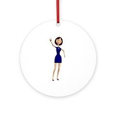 Minnie Ornament (Round)