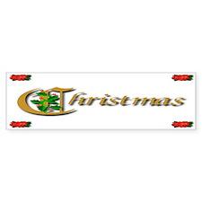 Stocking Stuffers Christmas Holly Bumper Bumper Sticker