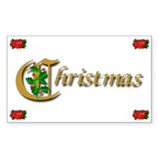 Stocking Stuffers Christmas Holly Decal