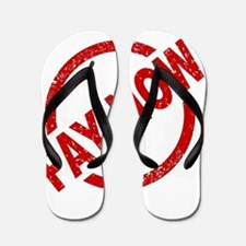 Pay Now Stamp Flip Flops