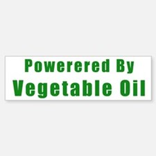 Powered by Vegetable Oil Bumper Bumper Bumper Sticker