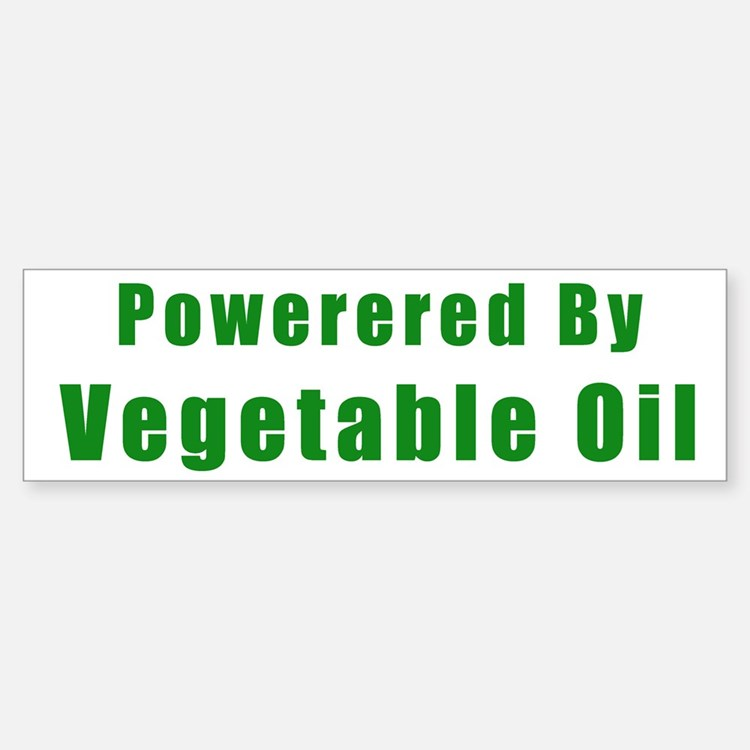 Powered by Vegetable Oil Bumper Bumper Bumper Sticker