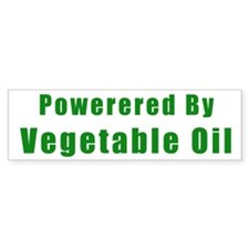 Powered by Vegetable Oil Bumper Bumper Sticker