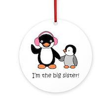 Big Sister Penguin Ornament (Round)