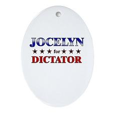 JOCELYN for dictator Oval Ornament
