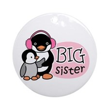 Big Sister - Penguin Ornament (Round)