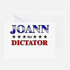 JOANN for dictator Greeting Card