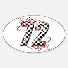 RaceFashion.com 72 Oval Decal