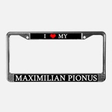 Love Maximilian Pionus License Plate Frame