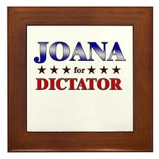 JOANA for dictator Framed Tile