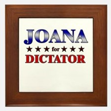 JOANA for dictator Framed Tile
