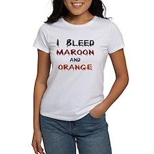 I Bleed Maroon and Orange Tee