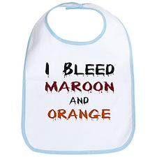 I Bleed Maroon and Orange Bib