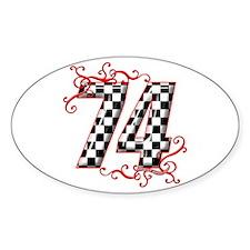 RaceFashion.com 74 Oval Decal