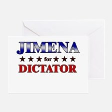 JIMENA for dictator Greeting Card
