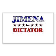 JIMENA for dictator Rectangle Decal