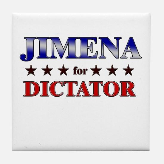 JIMENA for dictator Tile Coaster