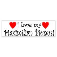 I Love my Maximilian Pionus Bumper Bumper Bumper Sticker