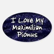 Funky Love Maximilian Pionus Oval Decal