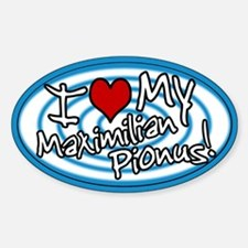 Hypno I Love My Maxi Pionus Oval Sticker Blue