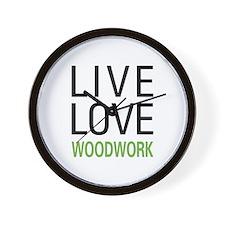 Live Love Woodwork Wall Clock