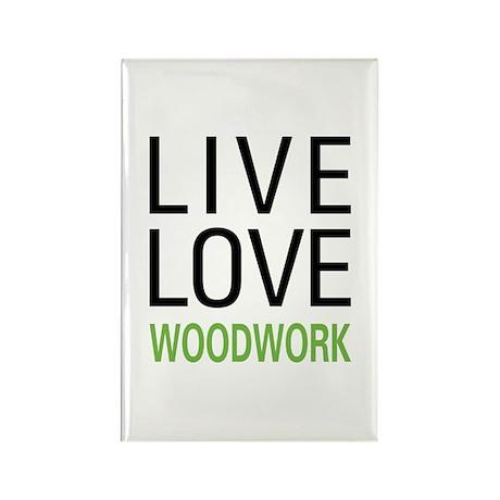 Live Love Woodwork Rectangle Magnet (100 pack)