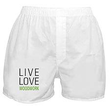 Live Love Woodwork Boxer Shorts