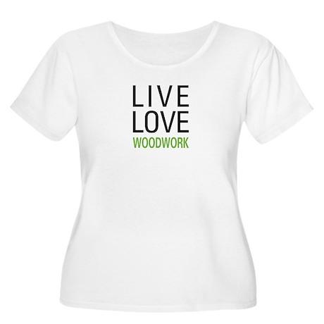 Live Love Woodwork Women's Plus Size Scoop Neck T-